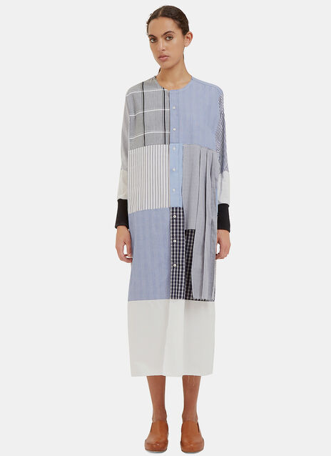 Long Reworked Multi Checked Dress
