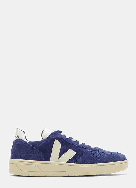 Veja V10 Suede Low-Top Sneakers