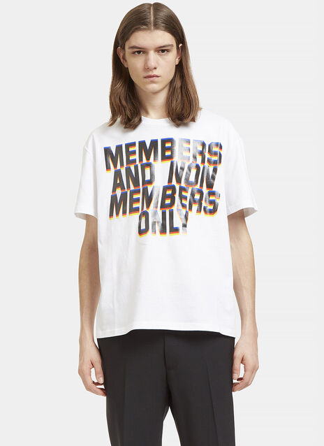 Members and Non Members Print T-Shirt