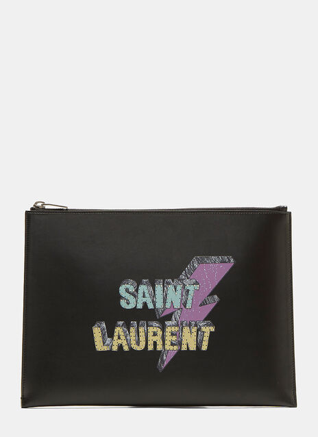 Saint Laurent Eclair Lightning Bolt Tablet Case