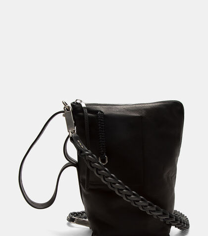 Braided Strap Mini Bucket Bag