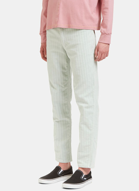 Striped Corduroy Straight Leg Pants