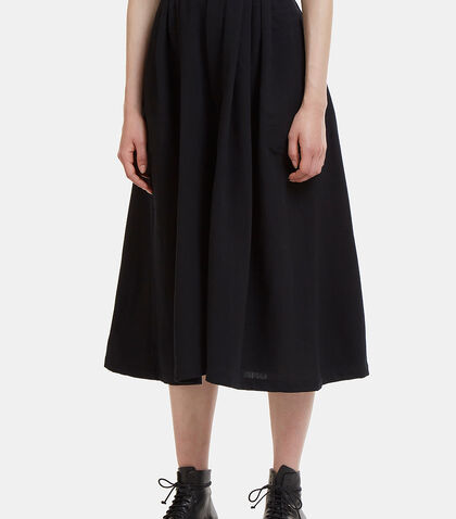 Wide Leg Pleated Cullottes