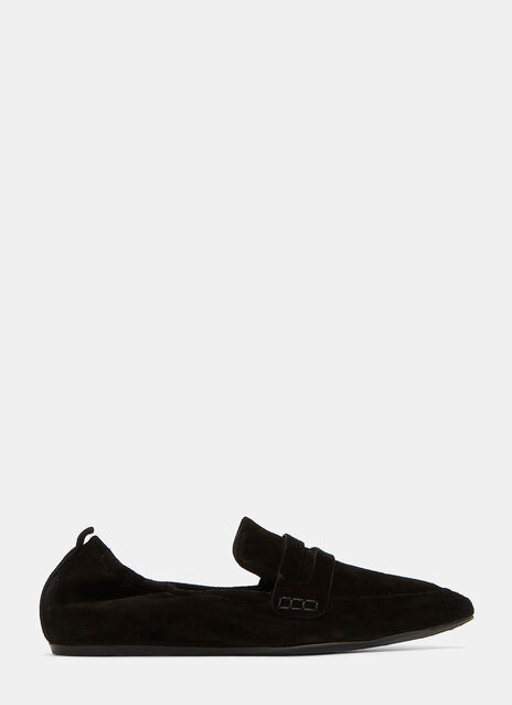 Suede Penny Loafer Slippers