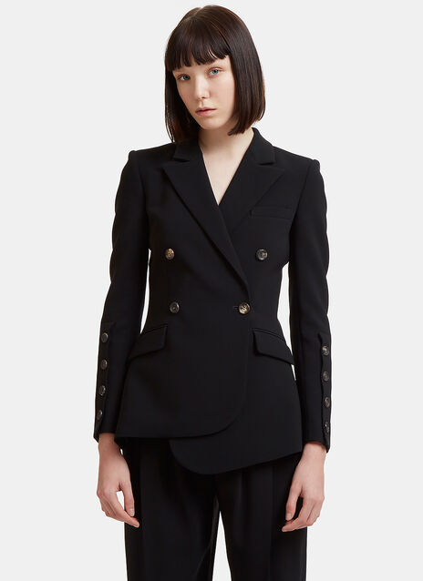 Wall Asymmetric Double-Breasted Blazer Jacket