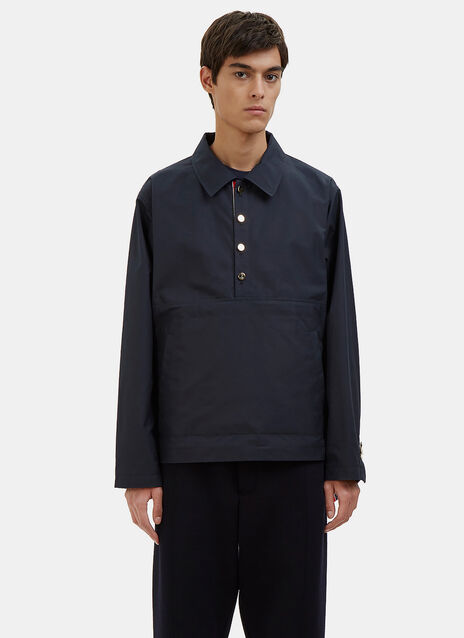 Waxed Cotton Packable Anorak Jacket