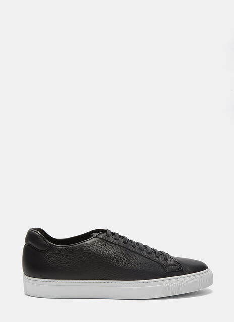 Low-Top Grained Leather Sneakers