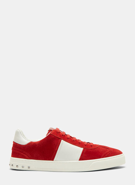 Classic Contrast Panel Stud Sneakers
