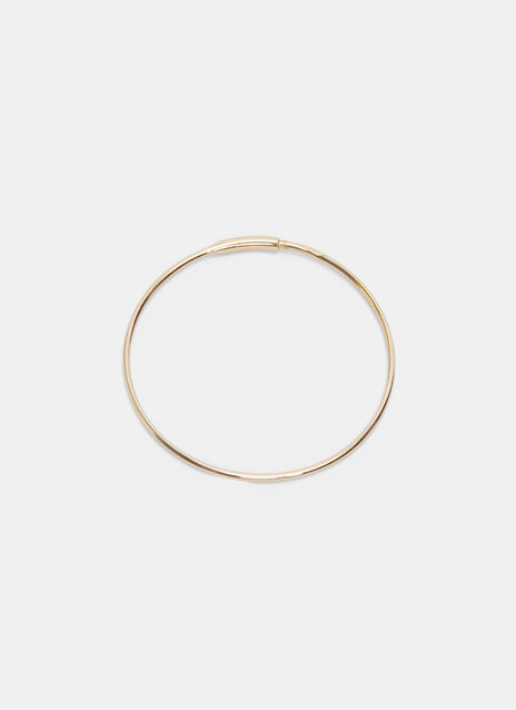 Large Single Fine Hoop Earring