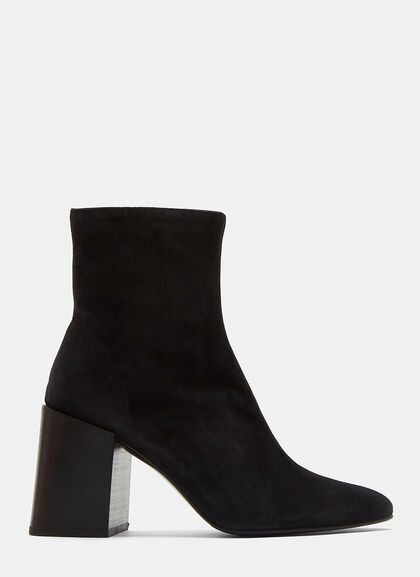 Image of Saul Reverse Suede Ankle Boots