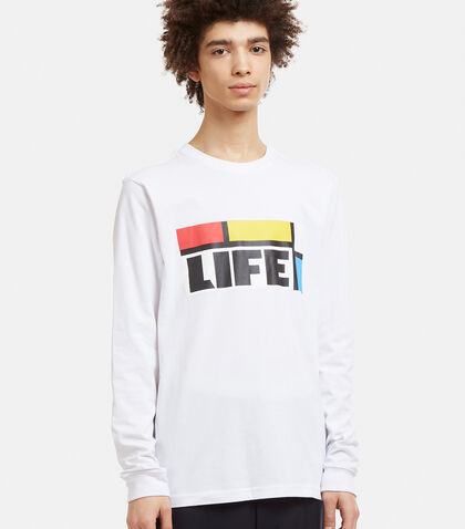 PERKS AND MINI Long Sleeve Kool Life T-Shirt in White