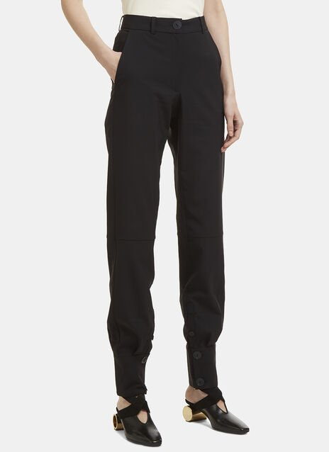 JW Anderson Buttoned Cuff High-Waisted Pants