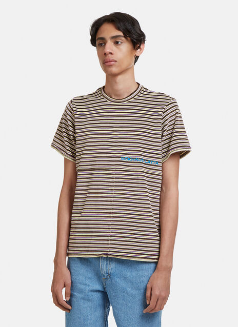 Eckhaus Latta Lapped Striped T-Shirt