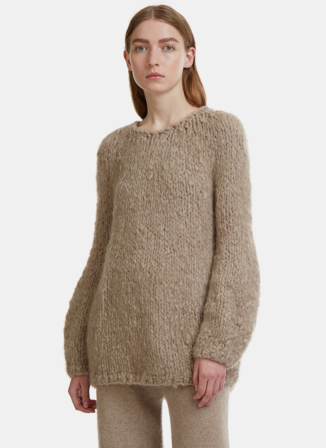 Bulb Shaped Chunky Knit Sweater