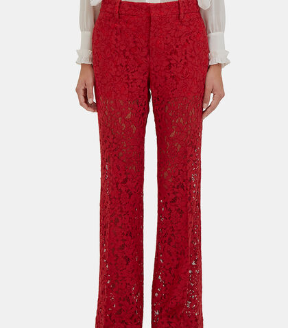 Floral Lace Flared Pants