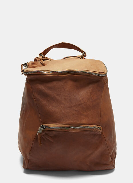 Giorgio Brato Crinckled Leather Backpack