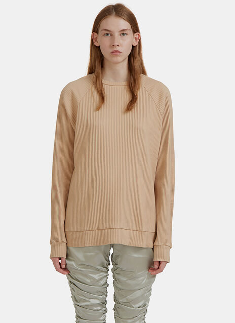 Jounich Round Neck Ribbed Sweater