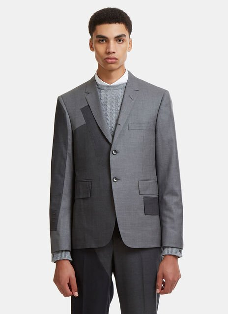 Patchwork Contrast Suit Jacket