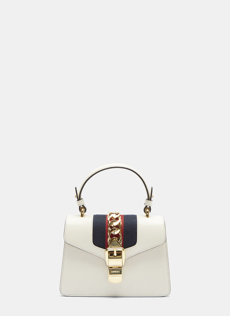 Sylvie Leather Mini Bucked Handbag