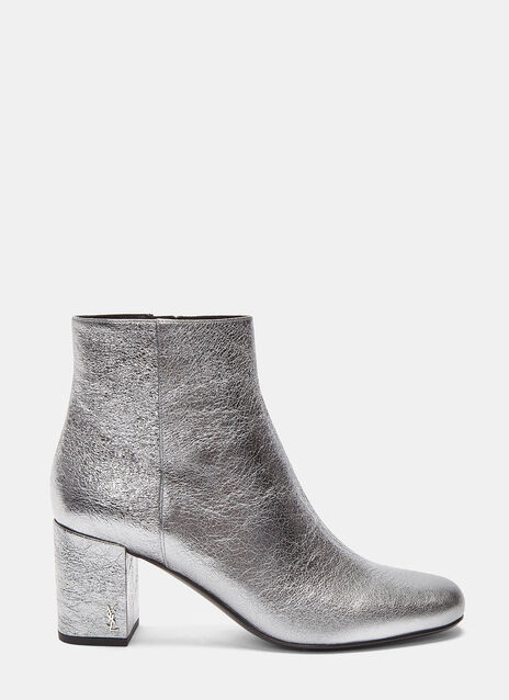 Babies 70 Metallic Block Heeled Ankle Boots