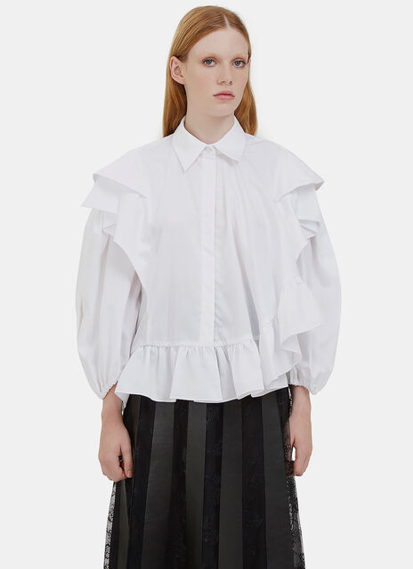 Caron Asymmetric Ruffled Shirt