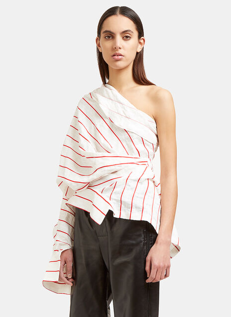 Creased Stripe Twist Shirt