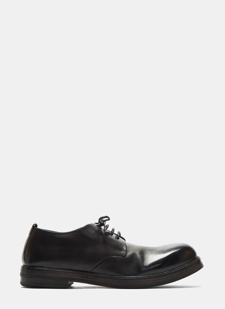 Zucca Zeppa Simple Leather Derby Shoes