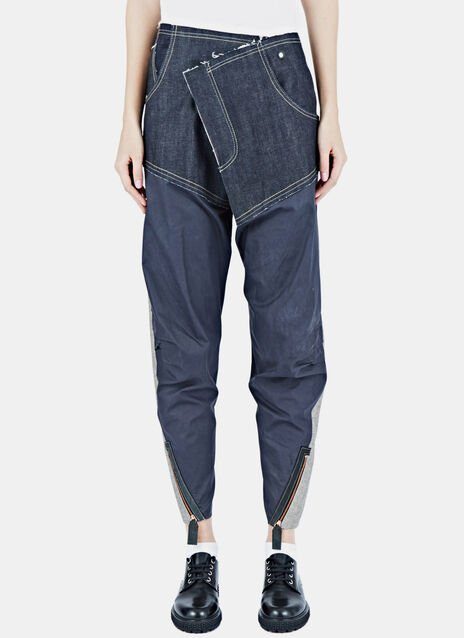 Cross Fly Wet Gloss Jeans