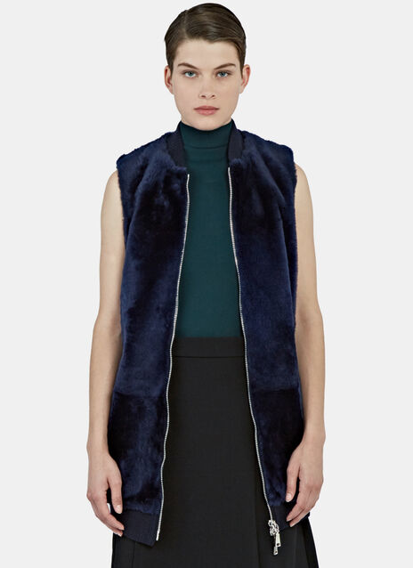 Long Lamb Fur Gilet