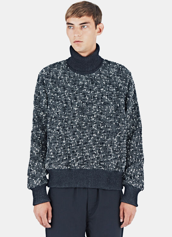 E.tautz Tweed Roll Neck Sweater