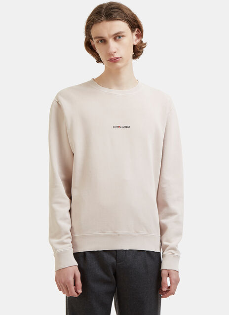 Logo Crew Neck Jersey Sweater