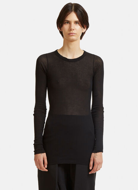 Basic Rib Long Sleeved Top
