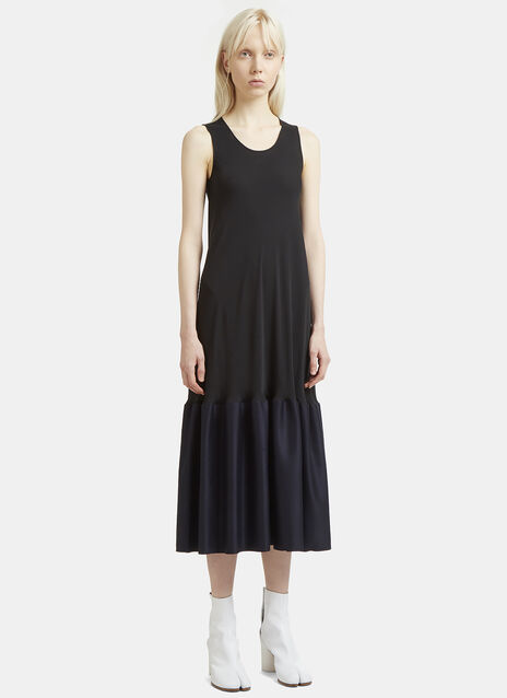 Maison Margiela Ruffle Hem Silk Dress
