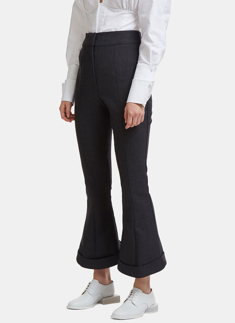 La Pantalon Nino Flared Cuff Pants