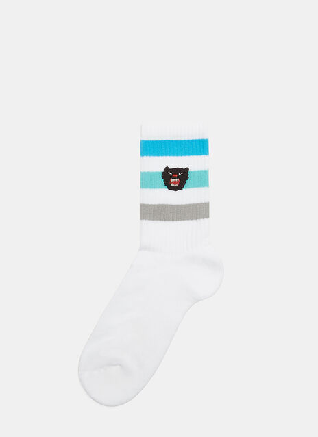 Little Slam Tiger Knit Socks