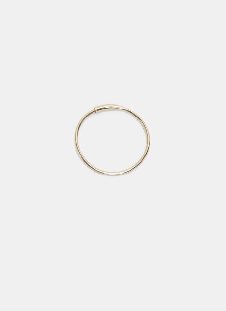 Medium Single Fine Hoop Earring