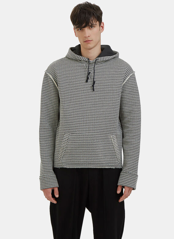 Aganovich Houndstooth Hooded Sweater