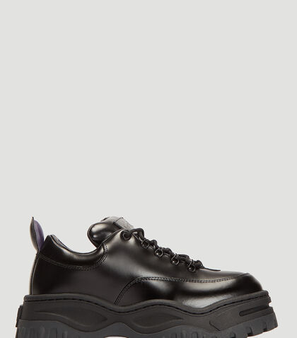 Angel Leather Sneakers in Black