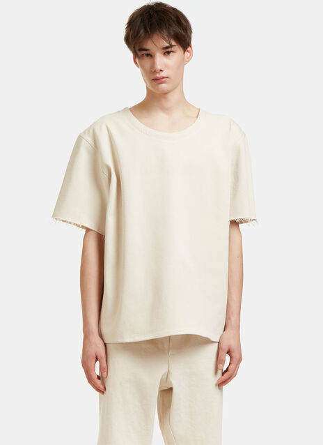 Oversized Raw-Edged T-Shirt