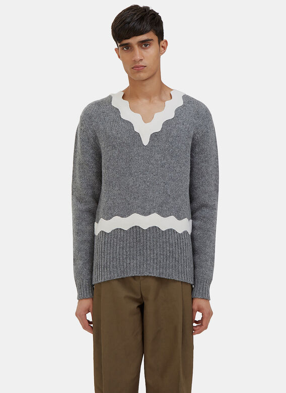 Acne Studios Kapila Waved Knit Sweater