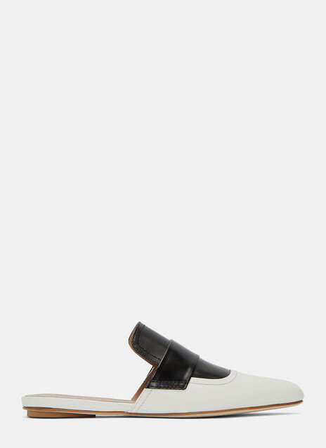 Bi-Colour Slip-On Mules
