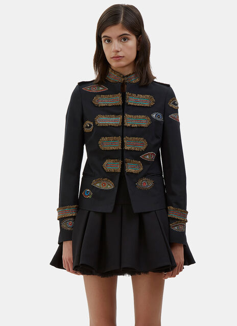 Embroidered Eye Military Jacket