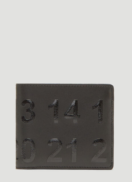 메종 마르지엘라 Maison Margiela Bi-Fold Logo Wallet in Black