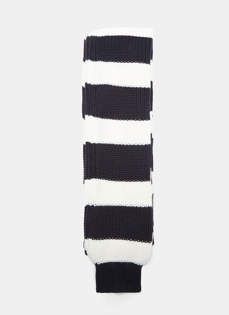 Sunnei Striped Extra-Long Sleeved Knit Scarf