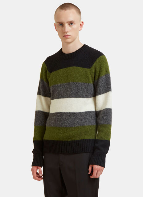 Striped Alpaca Knit Sweater