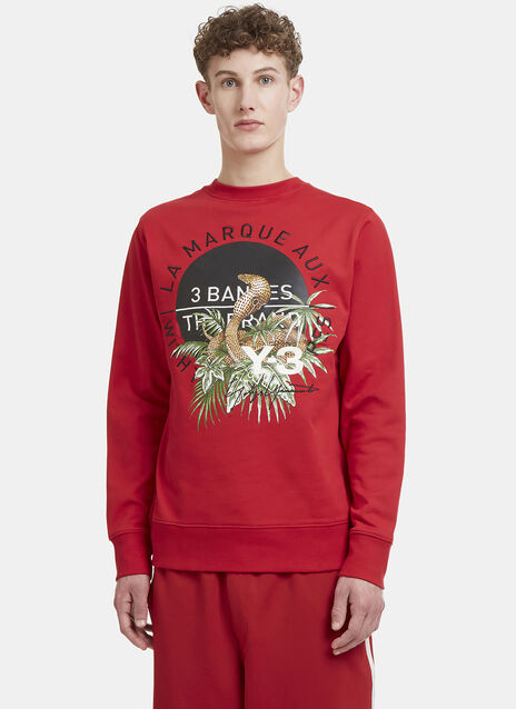 Y-3 Cobra Back Crew Neck Sweater