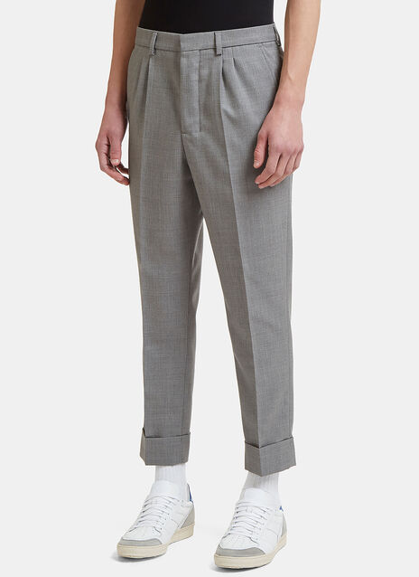 Carrot Fit Gabardine Pants