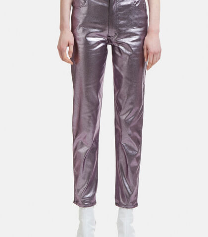 Metallic Jeans in Lavender