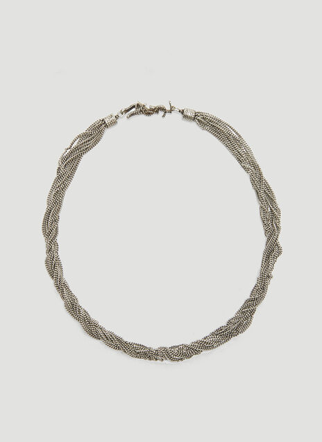 Loulou Twisted Chain Choker Necklace