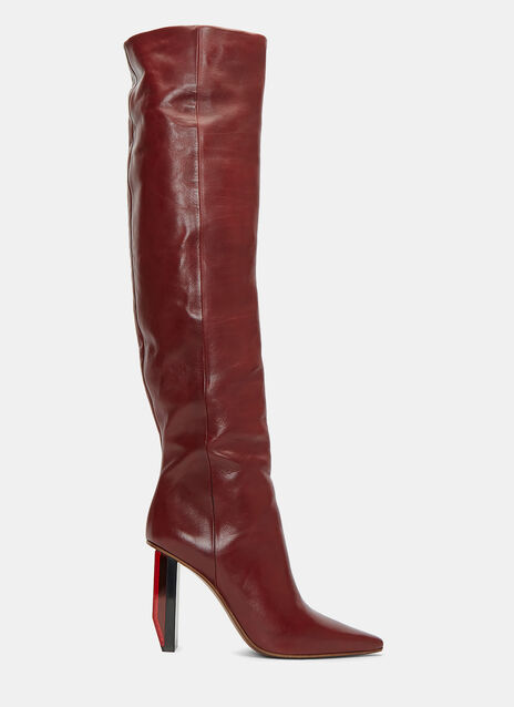 Thigh-High Reflector Heeled Boots